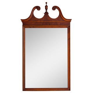 Mahogany Scrolled Pediment Mirror