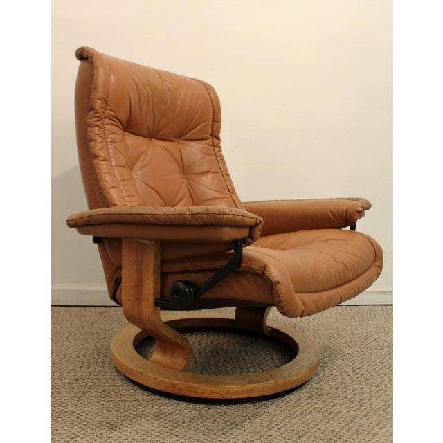 Ekornes Style Danish Modern Stressless Recliner Chairish