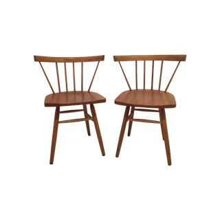 Petite Nakashima Style Chairs - A Pair