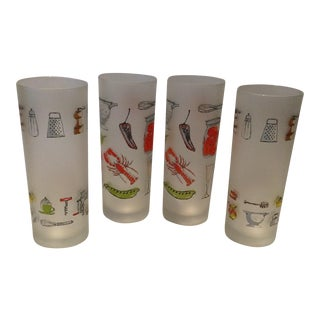 Vintage French Dartington Design High Ball Glasses - Set of 4