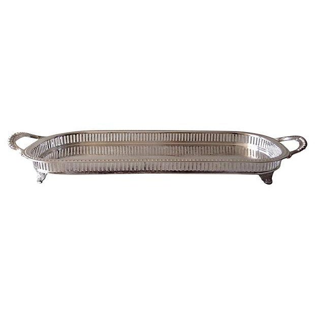 Silver Plate Reticulate Long Server Tray - Image 1 of 7