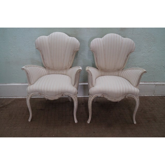 Hollywood Regency Fireside Host Accent Chairs - Image 2 of 10