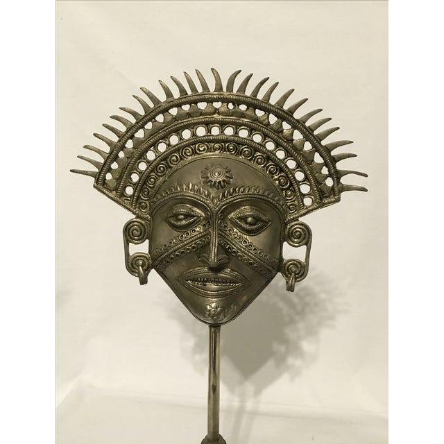 Metal Incan Sun God Mask - Image 3 of 9