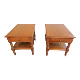 Conant Ball Rock Maple End Tables - a Pair