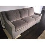 Image of Henredon Contemporary Gray Sofa