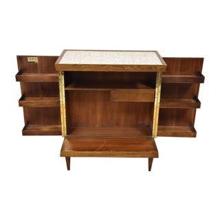 Henry Glass Mid-Century Walnut and Oak Bar