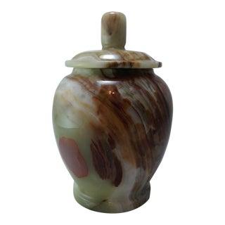 Mid-Century Marble Onyx Urn