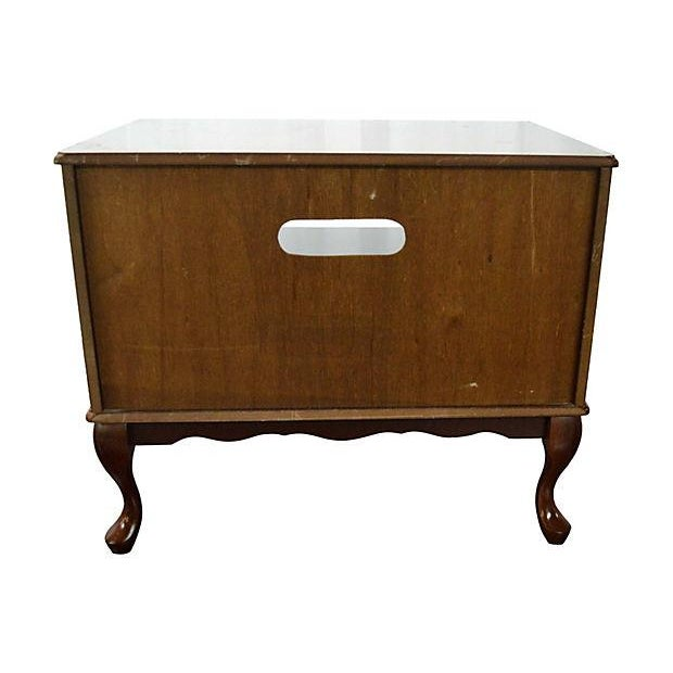 Image of Traditional Media Table with Drawer