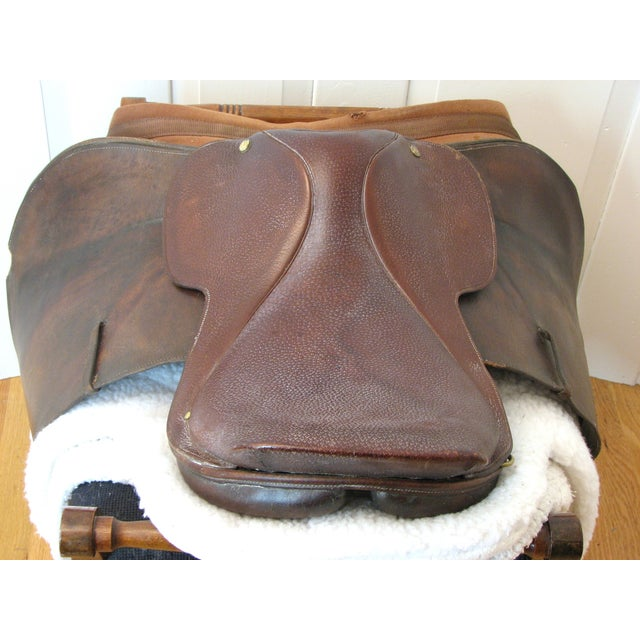 "Crosby Millers 16.5"" Brown Leather Horse Saddle - Image 4 of 8"