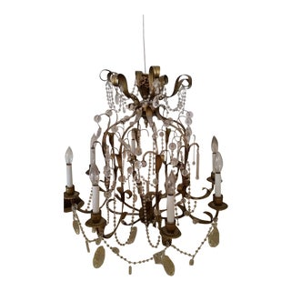 Late 19th Century French Crystal Chandelier