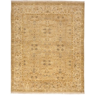 Indo-Oushak Hand Knotted Rug - 8'x 10'