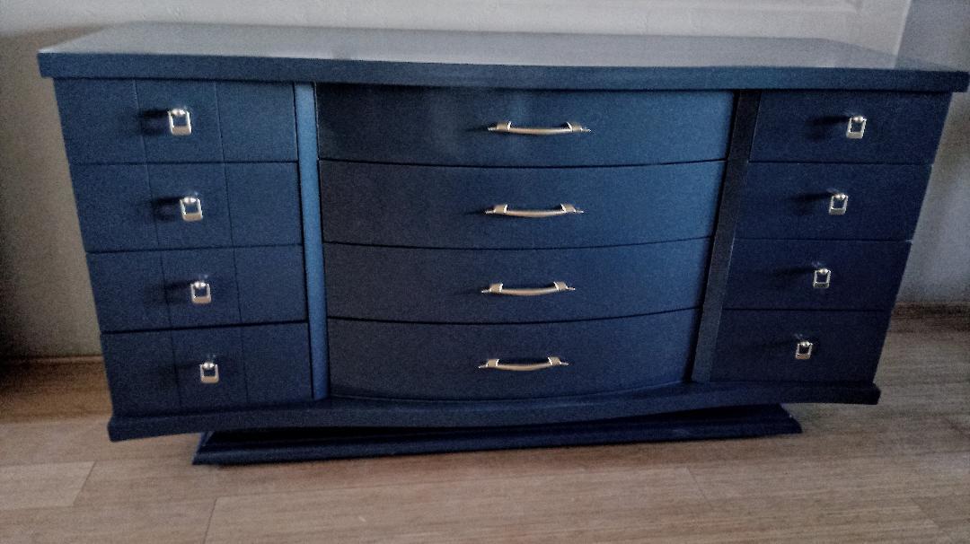 1950s United Furniture Corporation 12 Drawer Credenza   Image 2 Of 5