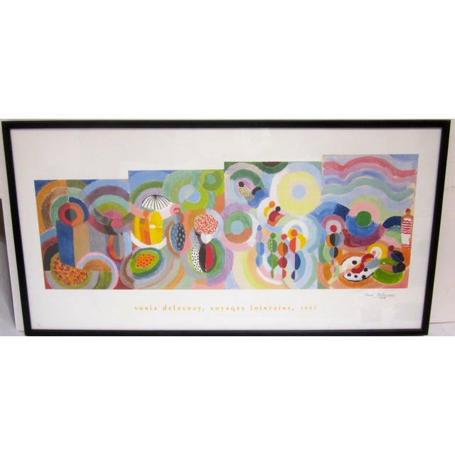 Sonia Delaunay Abstract Geometric Framed Art - Image 3 of 9