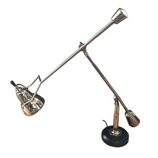 Industrial Style Metal Swing Arm Weighted Lamp