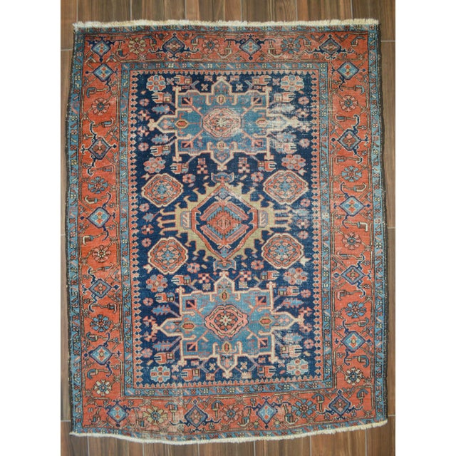 "Antique Persian Heriz Rug - 4'8"" X 6'2"" - Image 2 of 6"
