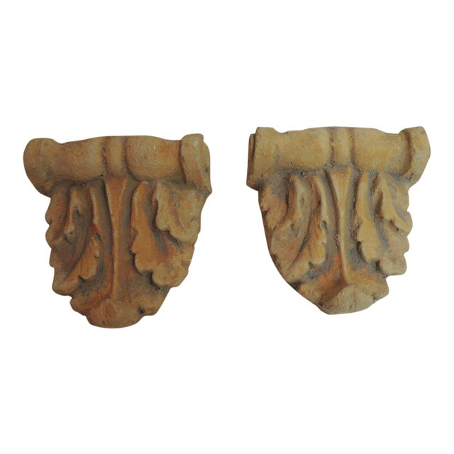 Vintage Cement Garden Brackets - A Pair - Image 1 of 6