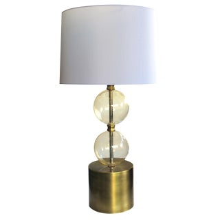 Murano Mid Century Lamp of Stacked Gold Orbs