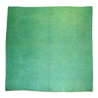Antique Angora Wool Oushak Rug - 9' x 9'3''