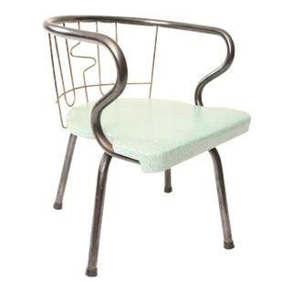 Mid Century Modern Light Blue Child's Swivel Chair