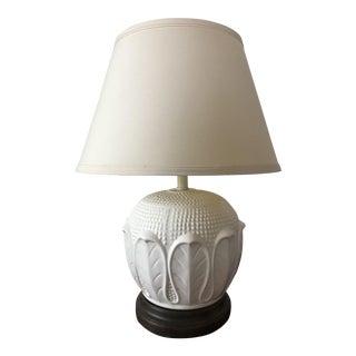 Italian Mid-Century White Ceramic Lamp