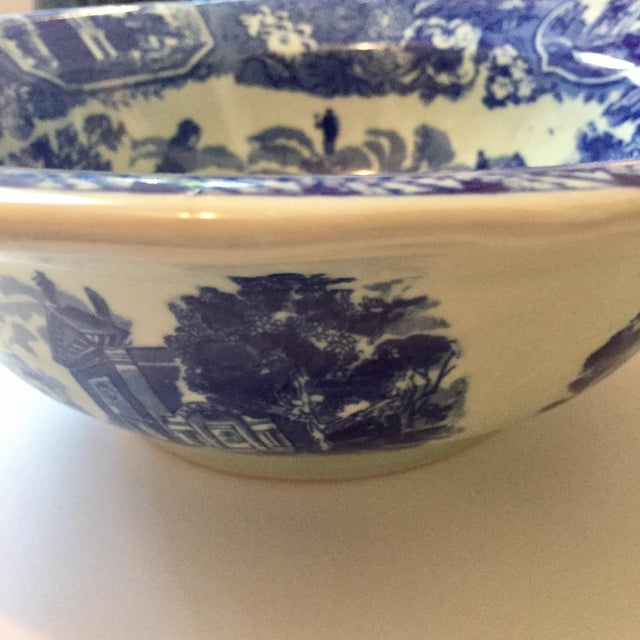 Victoria Ware Blue Town Ironstone Bowl - Image 5 of 6