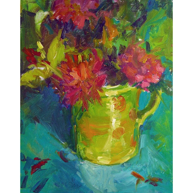 Brigitte Woosley Bold Floral Still Life Painting - Image 1 of 2