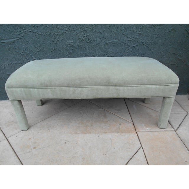 Upholstered Parsons Bench - Image 3 of 7