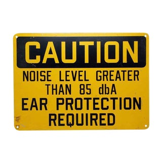 Noise Level Caution Sign