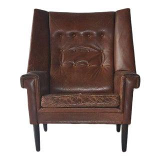 High Back Danish Lounge Chair