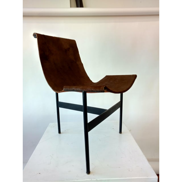 Metal and Leather Sling Zaha Chair - Image 2 of 5