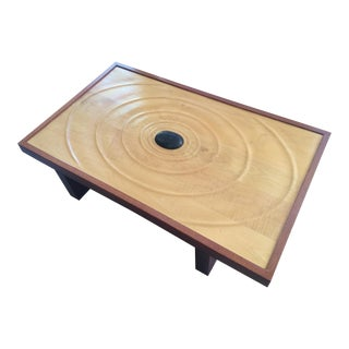 Zen Mahogany & Figured Maple Coffee Table