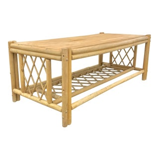 Paul Frankl Style Bamboo Coffee Table