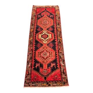 Vintage Persian Hamadan Runner - 3′3″ × 9′5″