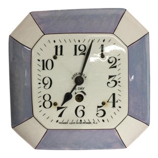 Vintage Delft Eight Day Clock Newark Clock Co.