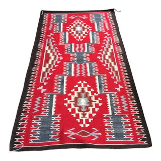 Navajo Two Grey Hills Rug- 4′2″ × 7′4″