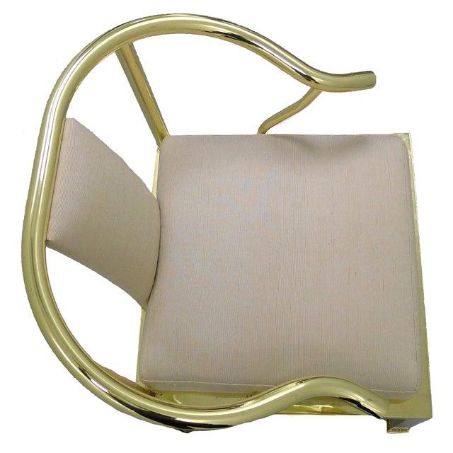 Brass Horseshoe Chair by Mastercraft - Image 3 of 4