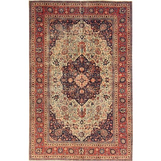 "Apadana Antique Persian Tabriz Rug - 6'6"" x 10'1"""