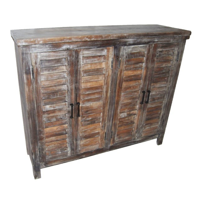 Reclaimed Shutter Cabinet Credenza - Image 1 of 4
