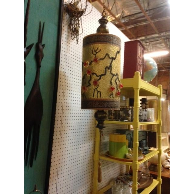 1940s Chinoiserie Hanging Swag Lamp - Image 3 of 3