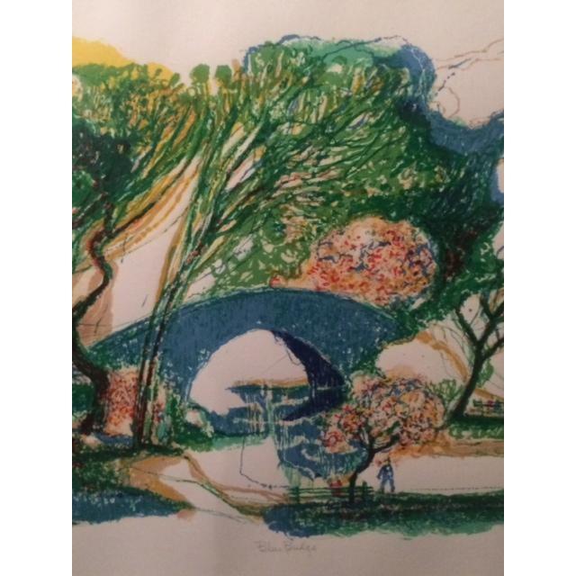 "Image of Ronald Christensen ""Blue Bridge"" Lithograph"