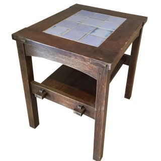Stickley Mission Tiled Tea Table