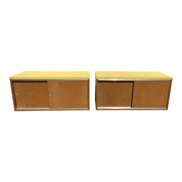 Sliding Door Cabinets - A Pair - Image 1 of 6
