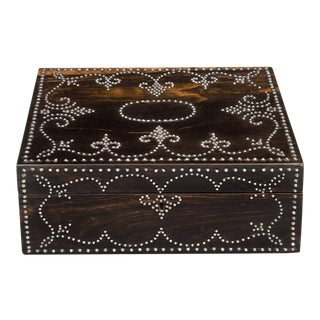 Antique Rosewood Steel Work Box, Circa 1850