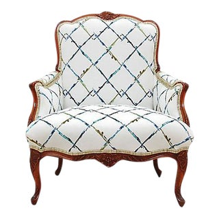 Rococo Style Carved Bergere