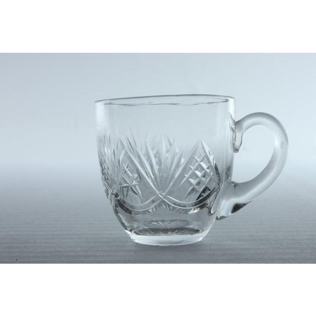 Fan Pattern Glass Espresso Mugs - Set of 10 - Image 3 of 3