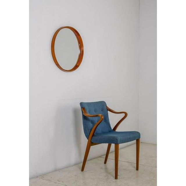 Image of Uno and Östen Kristiansson teak mirror for Luxus, Sweden, 1960s