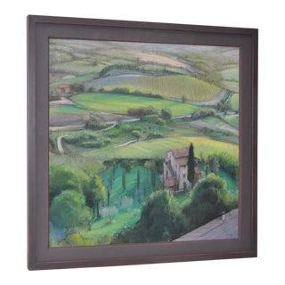 Italian Landscape Pastel Painting by Linda Carey