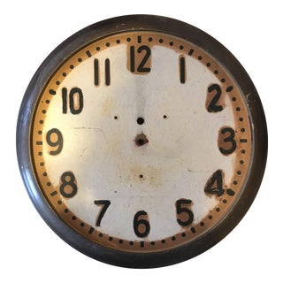 Vintage Metal Clock Face