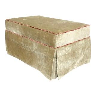 Custom Gold Velvet Ottoman