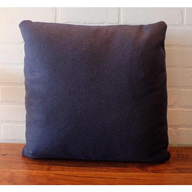 Italian Indigo Wool Pillow Covers - Set of 3 - Image 3 of 3